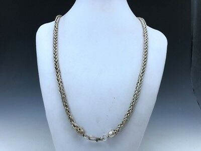 China's Tibet silver handmade craft fine necklace x354
