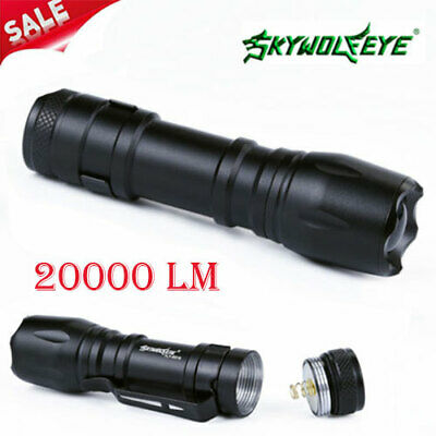 popular 3modes 20000Lm XPE LED Zoomable Flashlight Torch Lamp Penlight 14500/AA