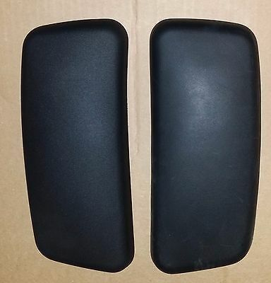 Authentic OEM USA Made Haworth Zody Chair Arm pad cap set TR-F Black Quick ship!