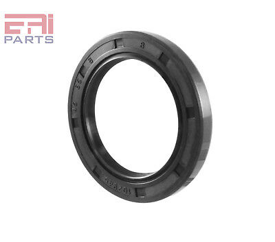 EAI Oil Seal TC 45X65X8 Rubber Double Lip with Spring 45mmX65mmX8mm