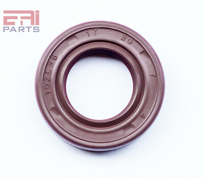 Oil and Grease Seal TC17X30X7 Viton Rubber Double Lip with Spring 17mmX30mmX7mm
