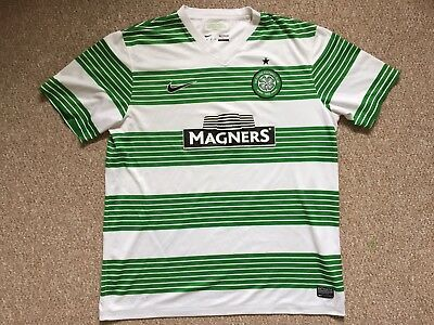 Large ADULTS GLASGOW CELTIC FOOTBALL SHIRT SEASON 2013-2015 HOME Nike