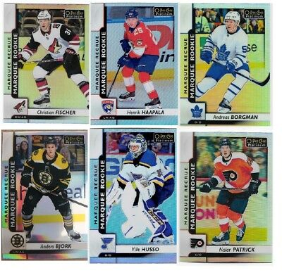 2017-18 OPC Platinum MARQUEE ROOKIES RAINBOW - U-PICK! Complete Your Set!