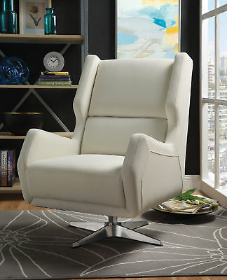 Pleasing Acme Able White Fabric Accent Chair 145 00 Picclick Lamtechconsult Wood Chair Design Ideas Lamtechconsultcom