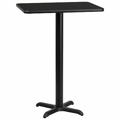 Flash Furniture 24'' x 30'' Rectangular Black Laminate Bar Table