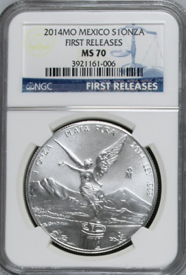 2014 Silver Mexico Libertad - NGC MS70 FR - Only 48 Graded and 0 Higher