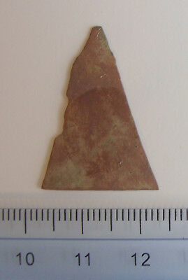Brass Trade Arrowhead - 1600s Seneca Iroquois - Steele Site, NY - ex. Carter - 1