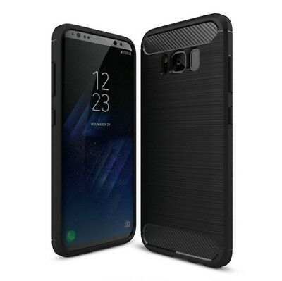 For Samsung Galaxy S8 / Plus Carbon Fiber Armor Cover TPU Heavy Duty Case