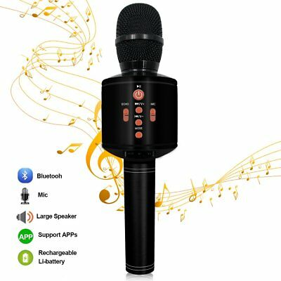 Protable Bluetooth Karaoke Microphone Wireless Dual Speakers Compatible with PC