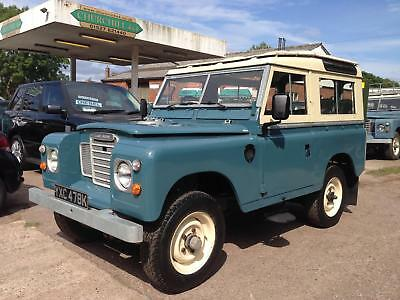 1972 Land Rover Series 3 SWB Station Wagon 2.25 petrol GALVANISED CHASSIS