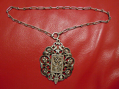 very old Russian 84 Silver Pendant with Chain, Moscow hallmark 19th century