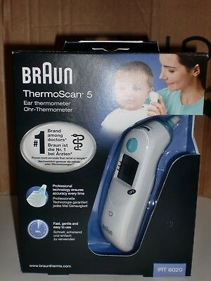 NEW Braun ThermoScan 5 IRT6020 Baby Digital Ear Thermometer & 100+ Probe Covers