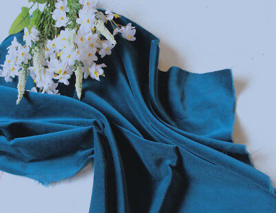 TEAL Cotton Velvet Fabric for Dressmaking: 112 cms - 240 gsm