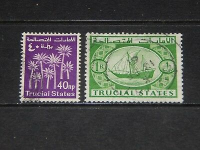 Trucial States stamps for sale - 2 used stamps - nice pair !!