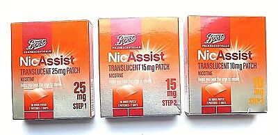 Boots Pharmaceuticals NicAssist Translucent Patch Step 1 or 2 or 3 (7 Patches)