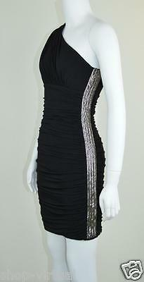 d41bb38ecf30a Max and Cleo New Black Embellished One Shoulder Cocktail Dress MSRP $168 Size  2