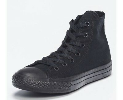 converse chuck taylor black high tops black unisex men's size 8 - women's 10