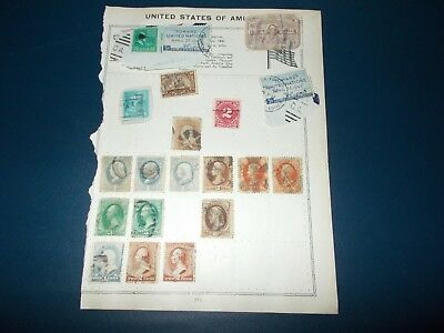 Early United States Of America Postage Stamps On Album Leaves. 120+