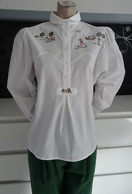 German Bavarian Traditional Trachten Blouse 4-6