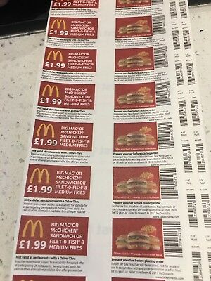 40 X McDonald's Food (can Be Used All Round The Country )limited Amount Left