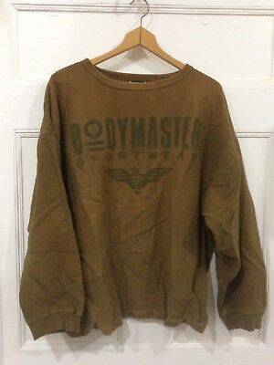 BODYMASTER Sportwear VTG Workout Shirt~One Size Weight Lifting/Gym/Exercise 80s