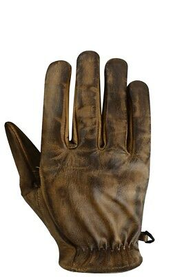 Motorcycle brown leather retro gloves cafe racer leather gloves vintage Gloves