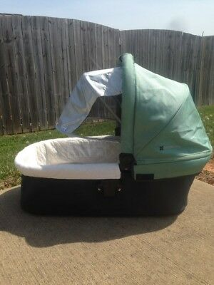 Uppababy Bassinet Carlin Green Pram Stroller Baby Carriage Used Infant Bed