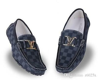 Louis Vuitton Men's Genuine Leather Handmade Dress Loafers - Assorted Colors