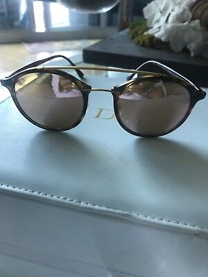 b89d149c002 NEW Rayban sunglasses RB4266 710 2Y 49 Tortoise Copper Pink Round LightRay  4266