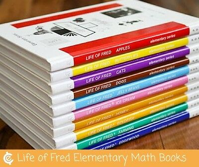 Life of Fred Elementary Series Complete 10 Book Set - Free Shipping