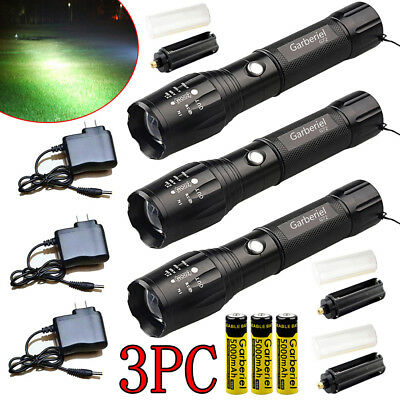 Tactical Police 90000 Lumens T6 LED Rechargeable 18650 Flashlight Zoomable Torch
