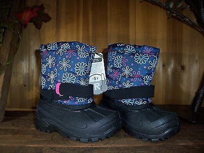 3fd6ce34bd4d Girls Winter Boots Size 1 -5 Temp Rated Flower Design Kids Winter Shoes  Casual