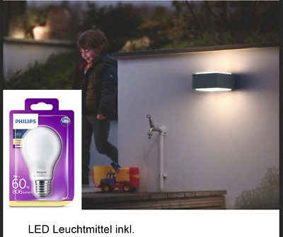 Philips MyGarden LED Wandaussenleuchte Hedgehog, anthrazit mit LED