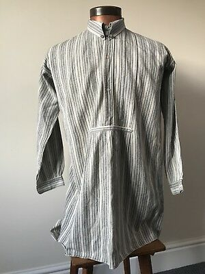 1920s/30s Vintage French Work Shirt Unusual Details
