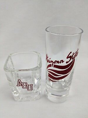 Set of 2 Collectors Arizona State University ASU Shot Glass NCAA