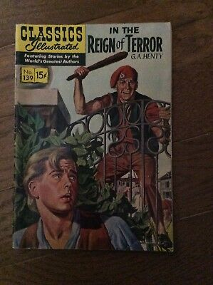 Vintage Classics Illustrated IN THE REIGN OF TERROR No. 139
