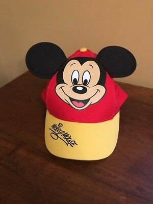 New W Tag Disney Parks Mickey Mouse baseball cap with Mouse ears youth Hat