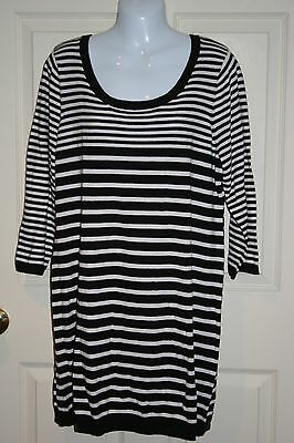 New Oh Baby by Motherhood maternity black white lightweight sweater XLarge 16-18