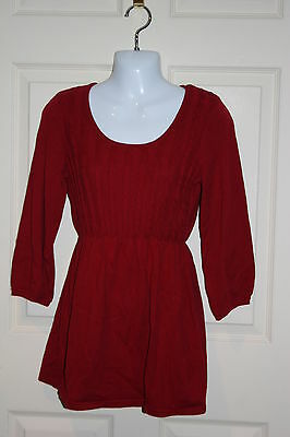 New Oh Baby by Motherhood maternity red lightweight sweater Large 12-14