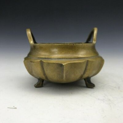 Chinese manual painting pure copper incense burner A71