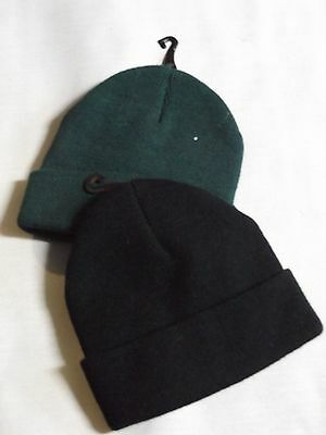 Black Or Green Beanie Cap Hat To Fit Child To Adult Open Size Nwot Trucker Decky