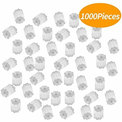 1000 Pieces Clear Rubber Earring Safety Backs Stoppers Backings For Fish Hook