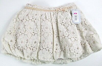 Cherokee Girls Toddler 3T Tan/Gold Shimmer Lace Floral Skirt NEW WITH TAGS