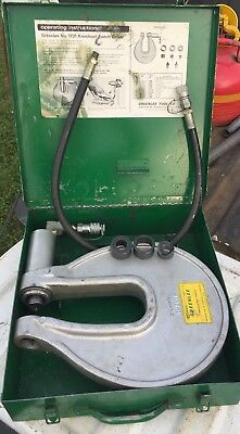 Greenlee #1731 One Shot Hydraulic Knockout Punch Driver w/case 1-2079