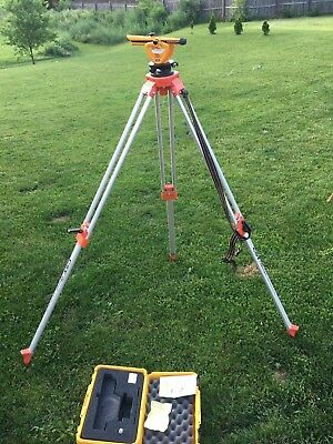 Berger Instruments Model 140bu  Surveying Transit Level Scope Wth Case & Stand