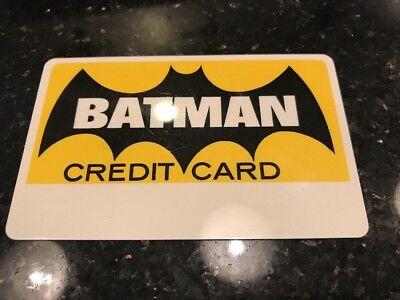 Vintage 1966 Batman Credit Card - Near Mint Condition - Rare - Free Shipping