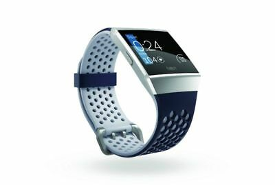NEW FITBIT Ionic Adidas Edition - Ink Blue & Silver Grey