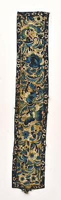 1900's Chinese Silk Embroidery Sleeve Band Panel Flower Butterfly