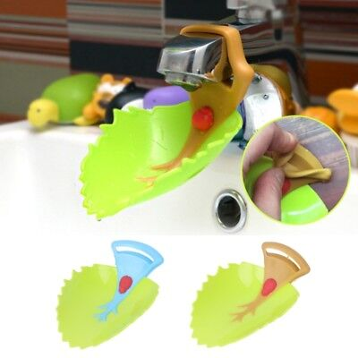 Cartoon Leaf Sink Extension Faucet Kids Children Washing Hand Water Guide Device