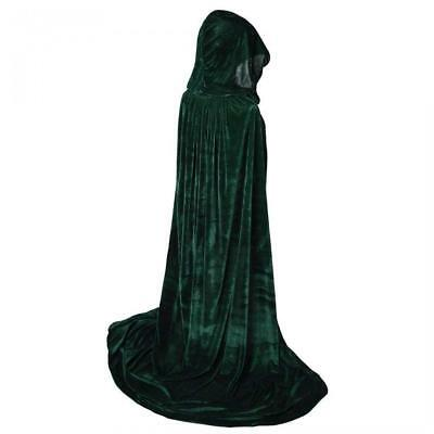 Txian Full Length Hooded Velvet Cloak Halloween Christmas Fancy Cape...